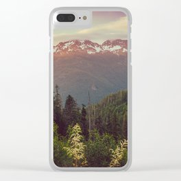 Mountain Sunset Bliss - Nature Photography Clear iPhone Case