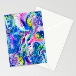 Bathbomb, fluid art, psychedelic art, trippy, psytrance, lsd, acid Stationery Cards