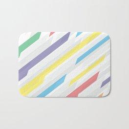 Tech geometric colorful lines background #society6 #decor #buyart #artprint Bath Mat