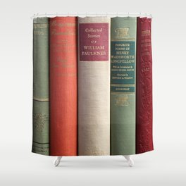 Old Books - Square Shower Curtain