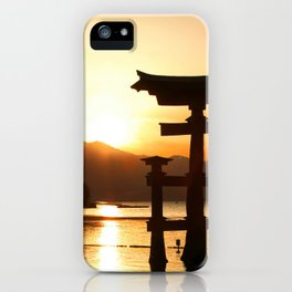 Itsukushima Shrine on Miyajima, Japan iPhone Case