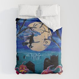 Spooky night Comforters