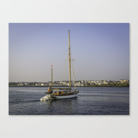 Leaving Dock Canvas Print
