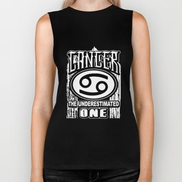 Cancer the underestimate one cancer t-shirts Biker Tank