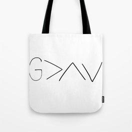 God is greater v2 Tote Bag