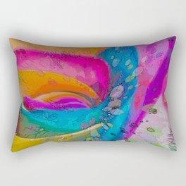 MOLECULAR RAINBOW ROSE ABSTRACT ART Rectangular Pillow