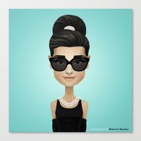 audrey Canvas Prints featuring Audrey by Matias G. Martinez