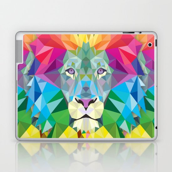 Geometric Rainbow Lion Laptop & iPad Skin