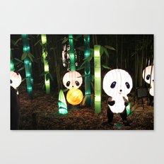 Illuminated Panda Incident Canvas Print