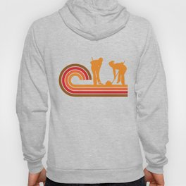 Retro Style Curlers Silhouette Curling Hoody