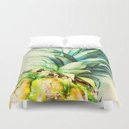 Green Pineapple Duvet Cover