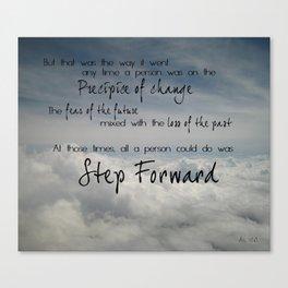 Step forward - clouds Canvas Print