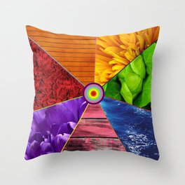 Rainbow Life - Beauty In Color Throw Pillow