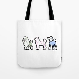 Poodles Dog Doggie Puppy Happy funny Cartoon Gift Tote Bag
