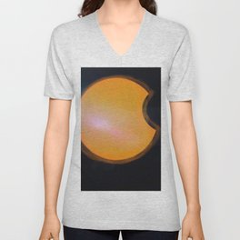 Total Moon Eclipse Unisex V-Neck