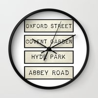 calendars Wall Clocks featuring London by Shabby Studios Design & Illustrations ..