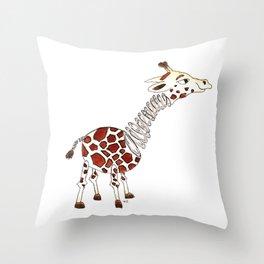 Slinky Giraffe Throw Pillow