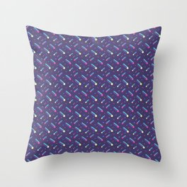 Dark purple with tubes. 80's style pattern. Throw Pillow