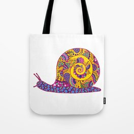 Colorful Snail Tote Bag