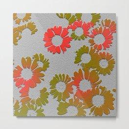 Emboss Floral #Society6 #decor Metal Print