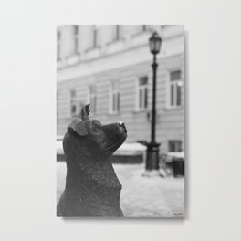 Dear Passer-By Shelter Me Metal Print