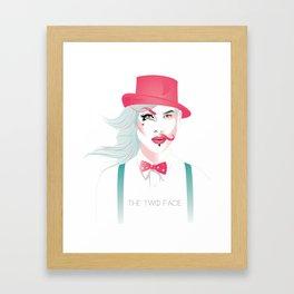 The Two Face Framed Art Print