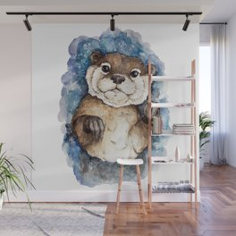 Watercolor Otter Wall Mural
