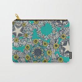 cirque fleur turquoise stone star Carry-All Pouch