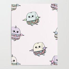 Swimming Tea Bag Poster