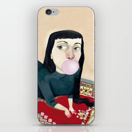 * CHICA MASCANDO CHICLE * iPhone Skin