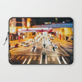 Speeding in the traffic by Night Laptop Sleeve