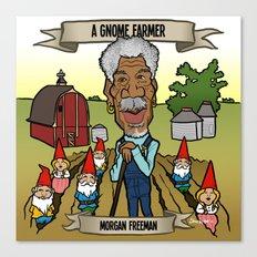 A Gnome Farmer (Morgan Freeman) Canvas Print