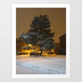 Winter Blanket Art Print