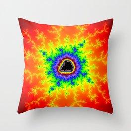 Firey Multicolored Mandelbrot Fractal Art Print Throw Pillow