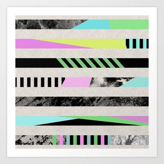 Crazy Lines - Pop Art, Geometric, Abstract Style Art Print