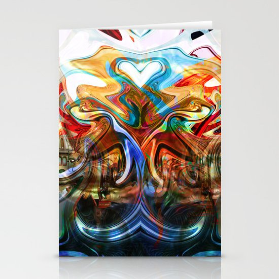 liquified space Stationery Cards
