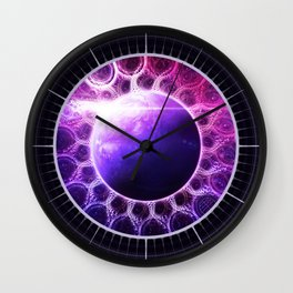 Deep Dream Fractal Mandala - Deep Space Galaxy Dreamer Wall Clock