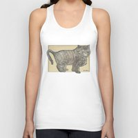 furry Tank Tops featuring Furry Cat by Felis Simha