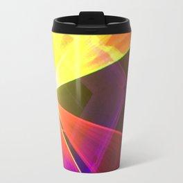 Red and Yellow laser Travel Mug