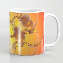 golden hearts Coffee Mug