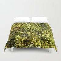 moss Duvet Covers featuring Moss by Laurianne Ceneda