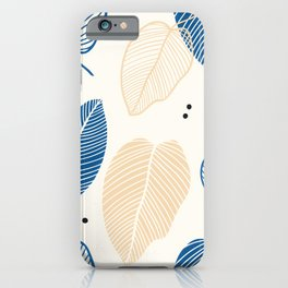 Leaves - Mid Century Pattern iPhone Case