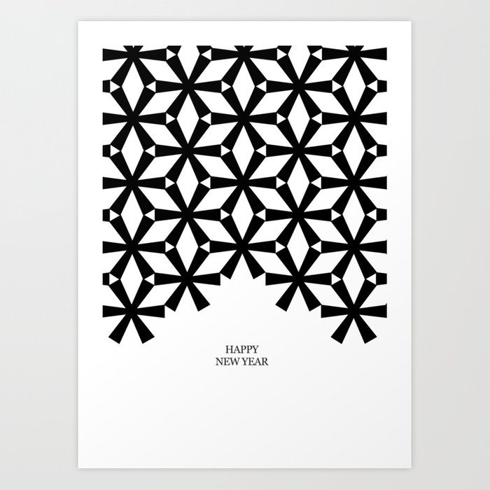 Christmas Cards To Print.Minimal B W Christmas Cards Art Print By Cardula