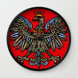POLISH EAGLE Wall Clock