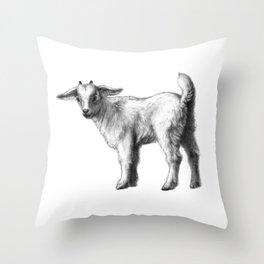Goat baby G147 Throw Pillow