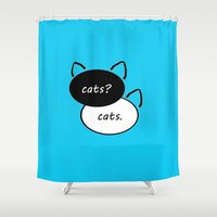 fault in our stars Shower Curtains featuring The Fault In Our Stars  by Urban Exclaim Co.