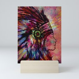 Native American Medicine Woman Spiritual Shaman Mini Art Print