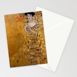 The Woman In Gold Bloch-Bauer I by Gustav Klimt Stationery Cards