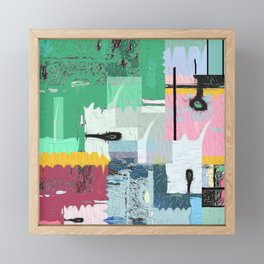 Helios and the Street . Contemporary Urban Abstract Framed Mini Art Print