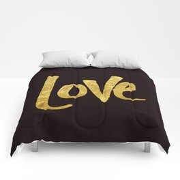 Love Handwritten Type Comforters